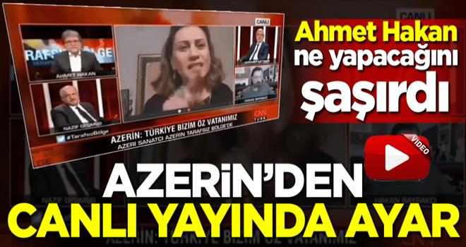 Azerin'den canlı yayında ayar! Ahmet Hakan ne yapacağını şaşırdı