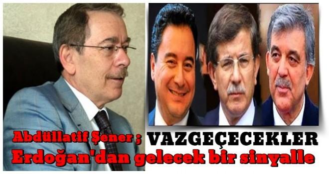Abdüllatif Şener, yeni parti kuracaklara gaz verdi