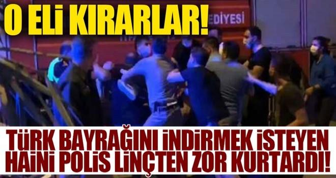 Şanlıurfa'da Türk bayrağını indiren şahıs linç edildi