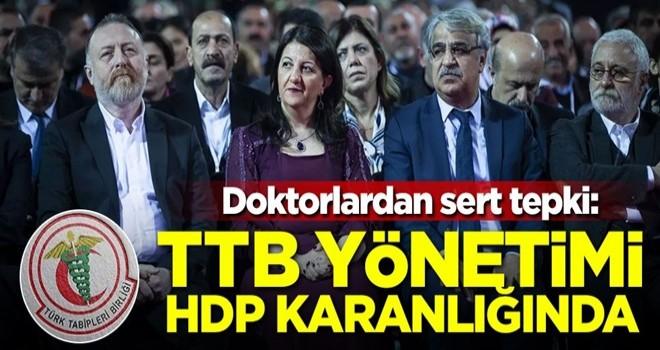 Doktorlardan sert tepki: TTB yönetimi HDP karanlığında