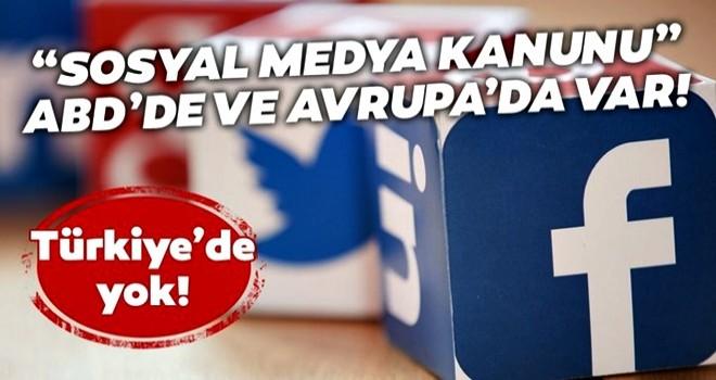 """Başkan Erdoğan'ın gündeme getirdiği """"Sosyal medya kanunu"""" Avrupa ve ABD'de var Türkiye'de yok!"""