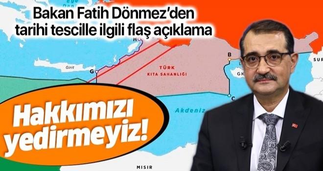Bakan Dönmez'den 'Doğu Akdeniz' açıklaması: Ne kimsenin hakkını yeriz ne de hakkımızdan vazgeçeriz