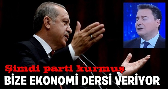 Başkan Erdoğan'dan Ali Babacan'a AYAR !