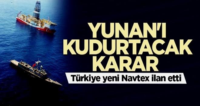 Yunan'ı kudurtacak karar! Türkiye yeni Navtex ilan etti