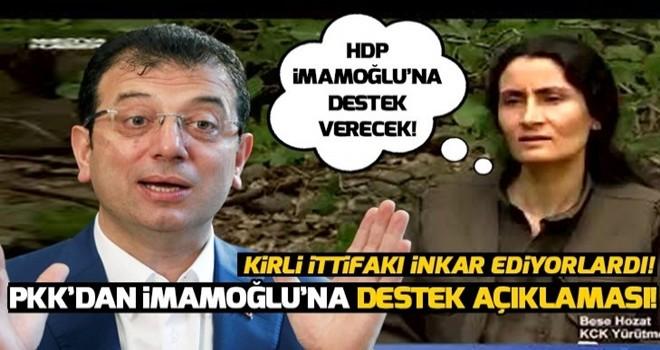PKK'dan İmamoğlu'na destek açıklaması! .