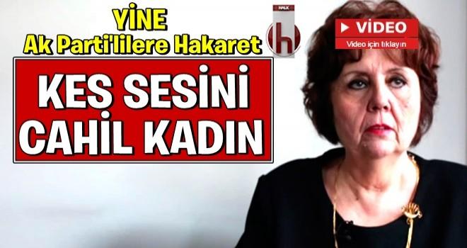 Ayşenur Arslan'dan AK PARTİ'Lİ seçmene hakaret