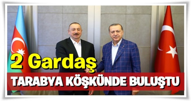 Erdoğan ve Aliyev Tarabya Köşkü'nde Görüştü