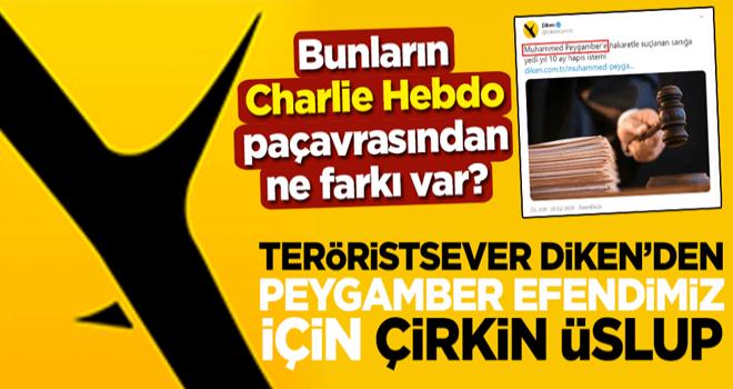 Bunların Charlie Hebdo paçavrasından ne farkı var? Teröristsever Diken'den Peygamber Efendimiz için çirkin üslup