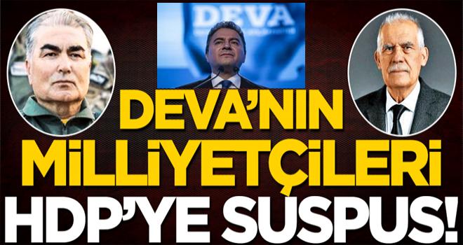 DEVA'nın milliyetçileri HDP'ye suspus!