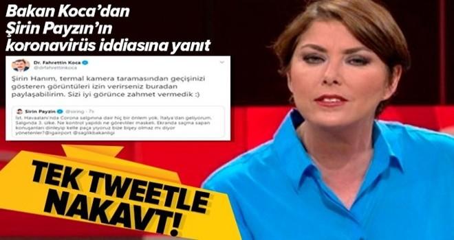 Şirin Payzın'ın 'İstanbul Havalimanı'nda hiçbir koronavirüs tedbiri yok' yalanına Bakan Koca anında yanıt verdi!