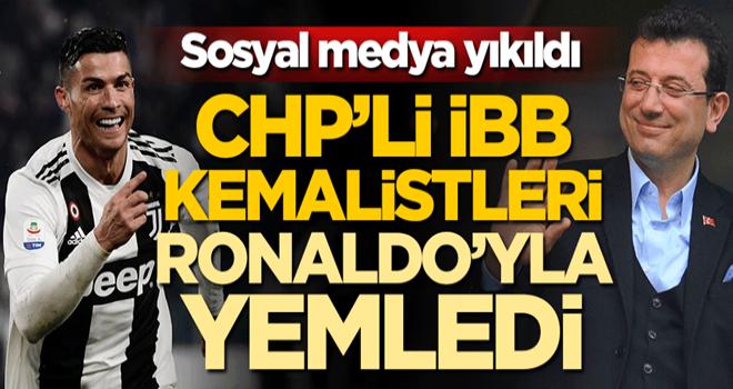 Sosyal medya yıkıldı! CHP'li İBB, Kemalistleri Cristiano Ronaldo'yla yemledi