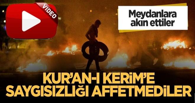 Kur'an-ı Kerim yakılınca İsveç'te sokaklar karıştı