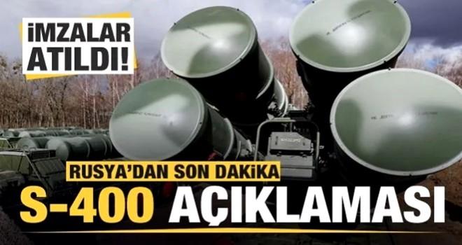 Türkiye ile Rusya'dan flaş S-400 hamlesi: İmzalar atıldı!