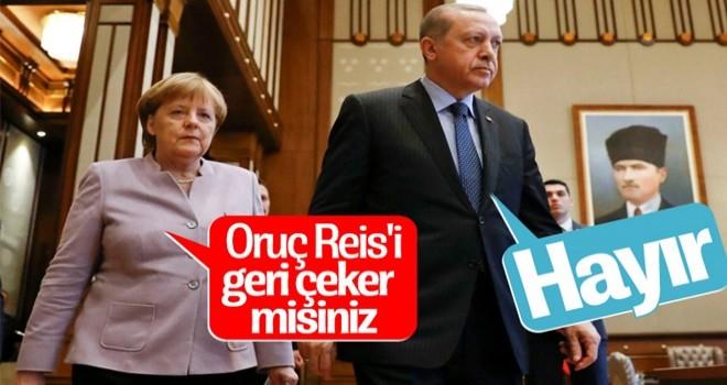 Erdoğan-Merkel görüşmesinin detayları belli oldu