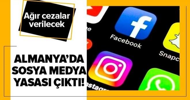 Almanya'da sosyal medya yasası çıktı! .