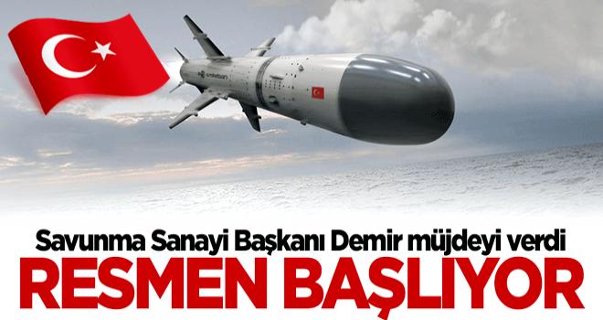 Savunma Sanayii Başkanı İsmail Demir müjdeyi verdi: Seri üretime geçiyoruz