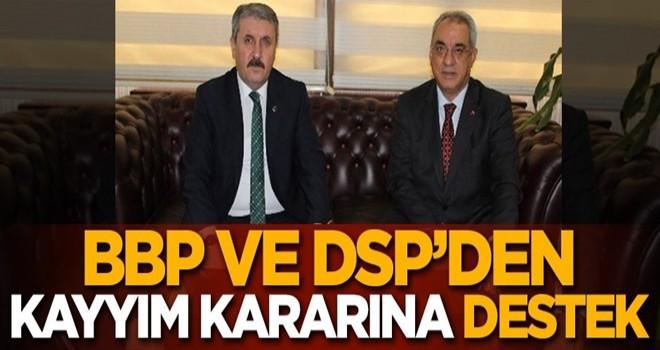 HDP'li belediyelere kayyım atanmasına BBP ve DSP'den destek