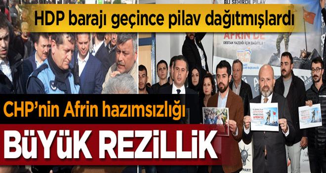 HDP için pilav dağıtan CHP'li Başkan'ın 'Afrin zaferi' hazımsızlığı!