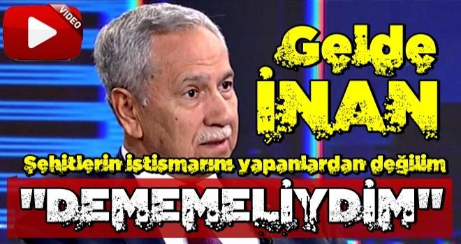 Bülent Arınç, 'KHK faciadır' sözleriyle ilgili geri adım attı