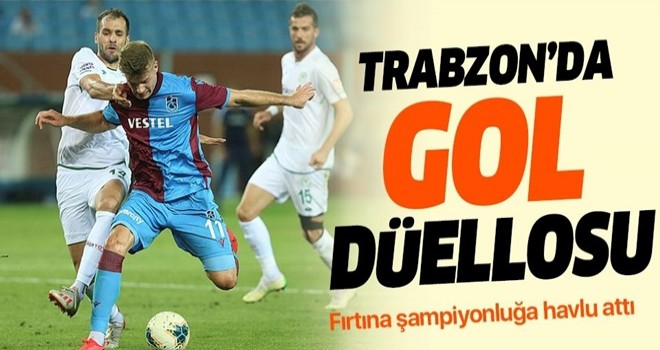 Trabzon'da gol düellosu! Trabzonspor 3 - 4 Konyaspor