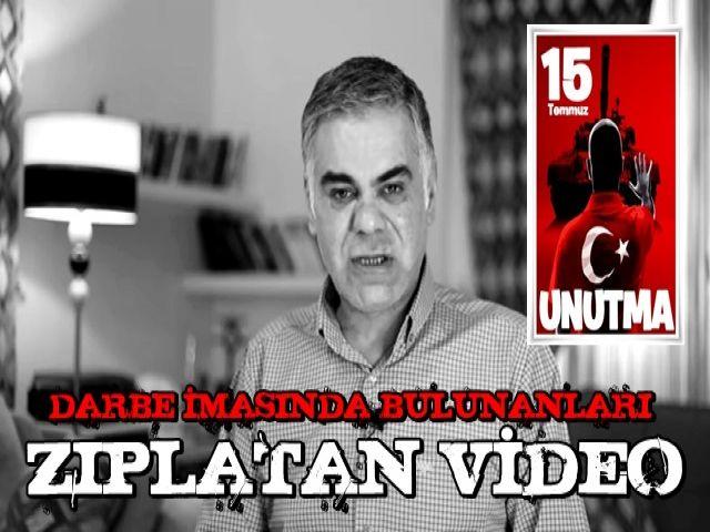 DARBE İMASINDA BULUNANLARI ZIPLATAN VİDEO (Süleyman Özışık)