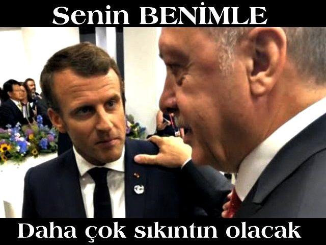 Cumhurbaşkanı Erdoğan'dan Macron'a sert cevap: Benimle daha çok sıkıntın olacak!